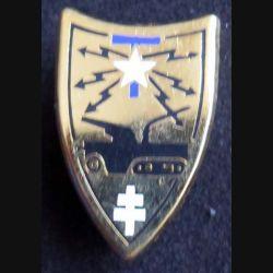 97 - 84° CMT : insigne métallique de la 97 - 84° compagnie mixte des transmissions de la 2° DB division blindée (retirage de fabrication Ballard non mentionnée)