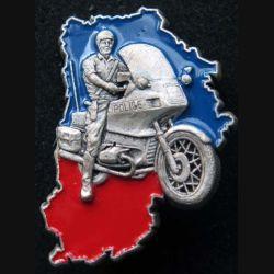 POLICE : insigne métallique du peloton motocycliste de la police nationale de Seine et Marne (Fabrication Ballard non mentionnée)