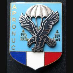 1° RCP :insigne métallique du 1° régiment de chasseurs parachutistes au Cambodge APRONUC de fabrication Ballard