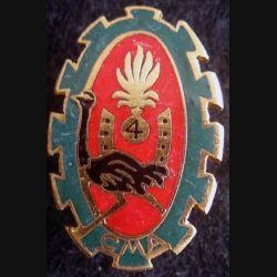 4° REI : Insigne métallique de la compagnie montée auto Drago Paris