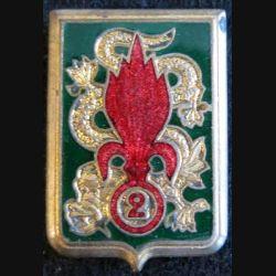 2° régiment étranger d'infanterie Extrème Orient Drago Paris émail