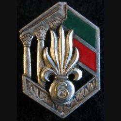 6° Régiment étranger de Génie Drago Béranger argenté en émail