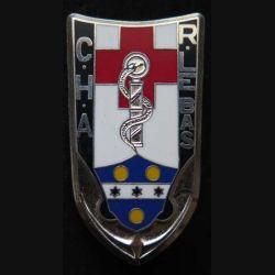 CHA LEBAS : Insigne métallique du CHA centre hospitalier des armées R. Lebas de fabrication Ballard