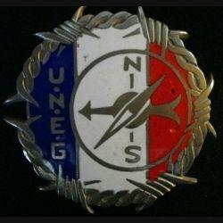PLAQUE DE VEHICULE : plaque de véhicule de l'union nationale des évadés de guerre de diamètre 76 mm
