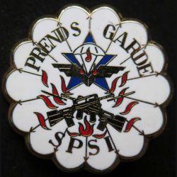 1° RCP : insigne métallique de la section de protection de sécurité d'intervention SPSI du 1° régiment de chasseurs parachutistes de fabrication Ballard