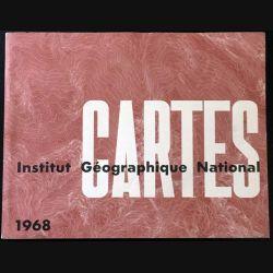 1. Cartes 1968 à l'Institut Géographique National