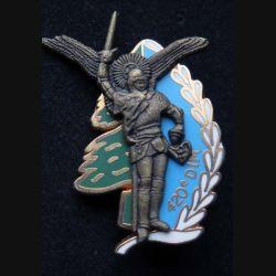 9° RCP : insigne métallique du 9° régiment de chasseurs parachutistes 420° DIM de fabrication Ballard