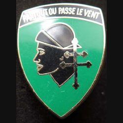 501° RCC : insigne métallique du 3° escadron du 501° régiment de chars de combat de fabrication Ballard