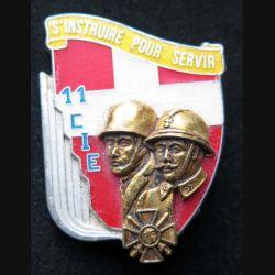 1° RI : insigne de la 11° compagnie du 1° régiment d'infanterie de fabrication Ballard