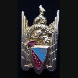 22° GAOA : Insigne métallique du 22° groupe aérien d'observation de l'artillerie de fabrication Ballard G. 832 retirage