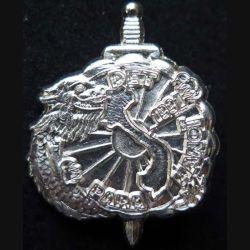 1° RCP : insigne métallique du 1° régiment de chasseurs parachutistes RCP détachement para Hanoi 1991 de fabrication Ballard tout argenté