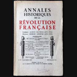 1. Annales historiques de la Révolution française n°173 1963 fondateur Albert Mathiez