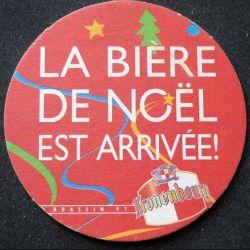 DESSOUS DE VERRE A BIÈRE Kronenbourg bière de Noël de diamètre 8,8 cm