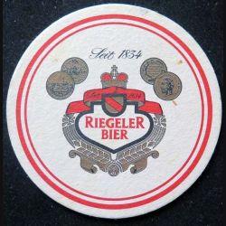 DESSOUS DE VERRE A BIÈRE Riegeler Bier de diamètre 9,3 cm