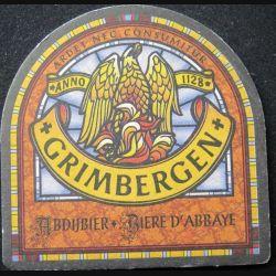DESSOUS DE VERRE A BIÈRE : Dessous de verre à bière Grimbergen de largeeur 10 cm
