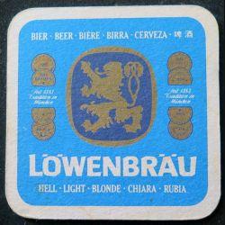DESSOUS DE VERRE A BIÈRE Löwenbräu de largeur 9,3 cm