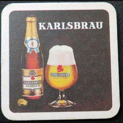 DESSOUS DE VERRE A BIÈRE Karlsbräu de diamètre 9 cm