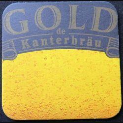 DESSOUS DE VERRE A BIÈRE Gold de Kanterbräu de largeur 9,2 cm