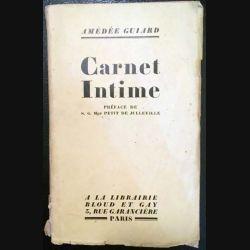 1. Carnet Intime de Amédée Guiard aux éditions Librairie Bloud et Gay