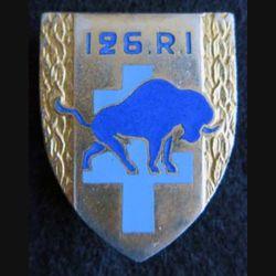 126° régiment d'infanterie Andor G. 1557 en émail