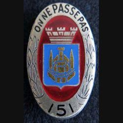 151° régiment d''infanterie Drago Paris H. 117 en émail