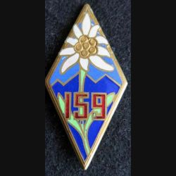159° régiment d'infanterie alpine en émail embouti anneaux