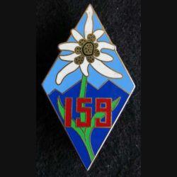 159° régiment d'infanterie alpine Drago dos légèrement grenu