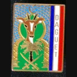 OPÉRATION DAGUET : insigne de l'Etat-major interarmées de Riyadh de fabrication Coinderoux version opaque