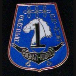 3° RH : insigne métallique du 1° escadron du 3° régiment de Hussards de fabrication Y. Boussemart 2002