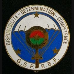 GSPR BF : insigne métallique du Groupe de sécurité de la présidence de la République du Burkina Faso