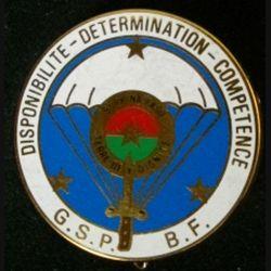 GSP BF : insigne métallique du Groupe de sécurité de la présidence du Burkina Faso
