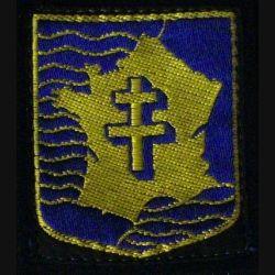 2° DB : insigne tissu de la 2° division blindée