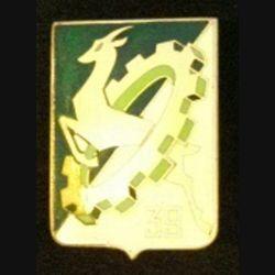39°CC : insigne métallique de la 39° compagnie de camp de fabrication Drago Romainville G. 1044 en émail