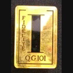 101°CQG : insigne métallique de la 101° compagnie de quartier général de fabrication Drago Paris G. 961 en émail