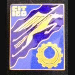 160° CIT : Insigne métallique du 160° centre d'Instruction du train de fabrication Drago Paris émail bout d'épingle coupée
