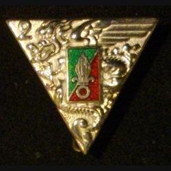 2° REP : insigne du 2° régiment étranger parachutiste réalisé par Boussemart en 2001 G.1948 finition prestige argent