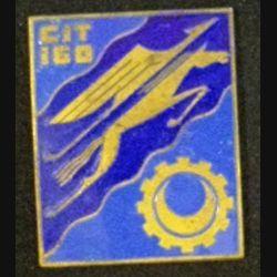 160° CIT : Insigne métallique du 160° centre d'Instruction du train de fabrication OFSI émail sans attache