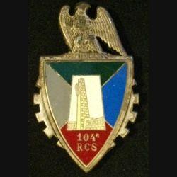 104°RCS : insigne métallique du 104° régiment de commandement et des services de fabrication Fraisse G. 2751