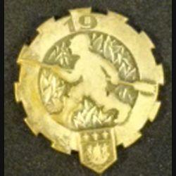 19°ET : insigne métallique du 19° escadron du train de fabrication Drago Paris Béranger tout métal sans attache
