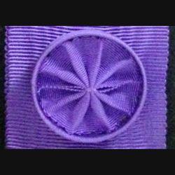 FRANCE : Ce ruban d'Officier l'ordre des palmes académiques a une longueur de 13 cm et une largeur de 3,7 cm avec rosette