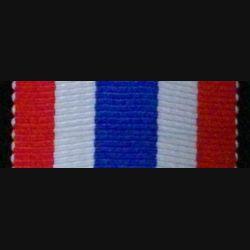 FRANCE : RUBAN DE LA MÉDAILLE D'HONNEUR DE LA POLICE 2 logueur 10 cm largeur 3 cm