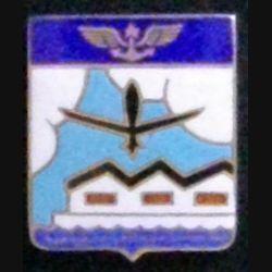 ESC : insigne métallique de l'escadrille de réception et de convoyage de fabrication Drago Romainville en émail épingle coupée de part et d'autres des boléros