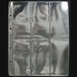 1. MILITARIA : 10 feuilles pochettes plastiques neuves pour 6 décorations de dimension 255 x 205 mm non compatibles avec classeurs A4