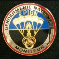 EPIGN : insigne métallique de brevet moniteur de l'escadron parachutiste d'intervention de la Gendarmerie nationale EPIGN de fabrication Boussemart 2004